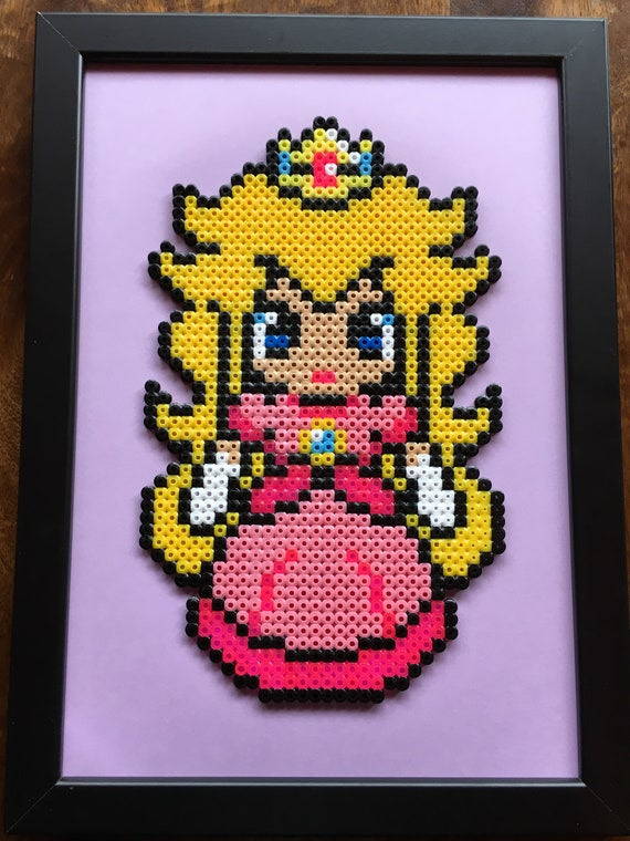 Princesse Peach Et La Princesse Daisy Super Mario Pixel Art A4 Perle Photo Disponible à Lunité Ou En Lot De 2