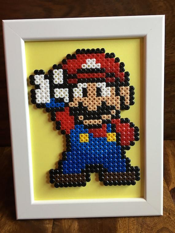 Mario Luigi Princess Peach Andor Princess Daisy Pixel Art Framed A5 Bead Picture Available As Individuals Or As A Set Of 4
