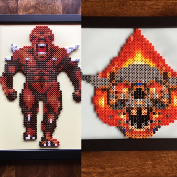Imp Andor Lost Soul Doom Pixel Art A4 Bead Picture Available Individually Or As A Set Of 2