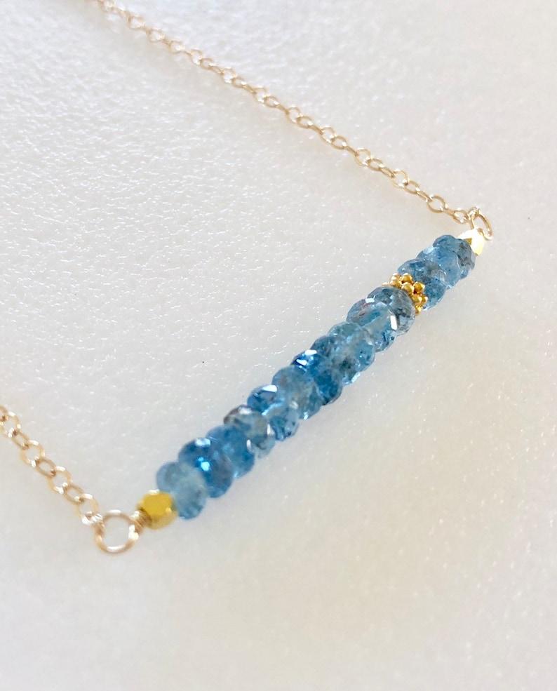 GiftJewelryShop Red Christmas Bow Photo Blue Aquamarine Crystal March Birthstone Flower Dangle Charm Bracelets