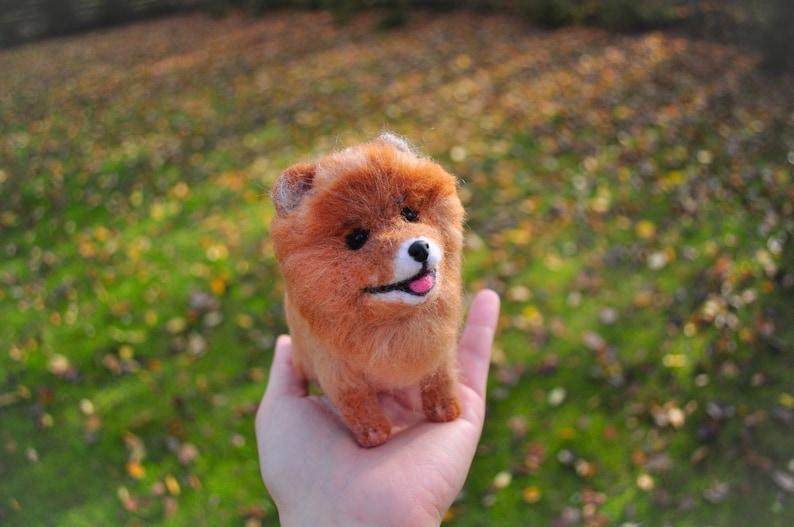 Needle felted animal dog miniature custom dog figurine replica pet loss gift