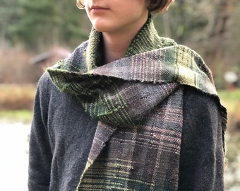 Winter Forest- Hand Woven Scarf