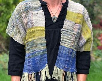 Moss Vest- Hand Woven Vest