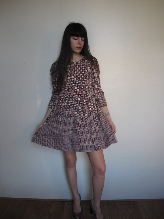 Women 90's Flower Dress