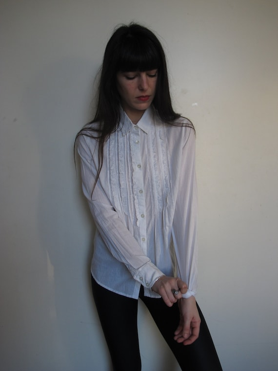 30s Inspired Parisian White Shirt