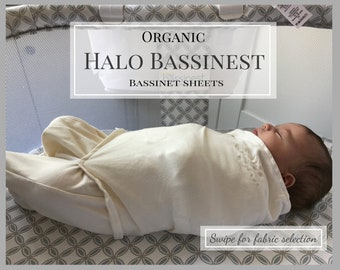 Organic cotton Halo bassinet sheet. Custom Halo Swivel Bassinest sheets in  modern nursery prints. A lovely gift for a special baby. 26d4887dd