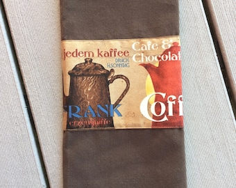 coffee kitchen brown tea towel coffee cup decor coffee lover decor gift