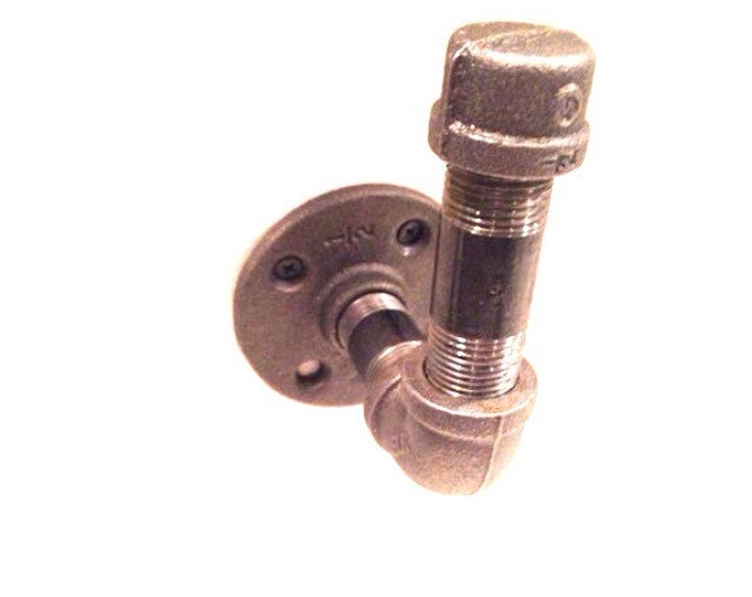 "Industrial pipe wall hook and/or curtain tie back (Choose 1/2"" or 3/4"" pipe)"
