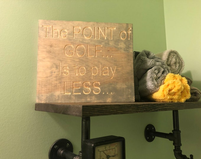 Golf Sign (Carved)(Pick your own stain)