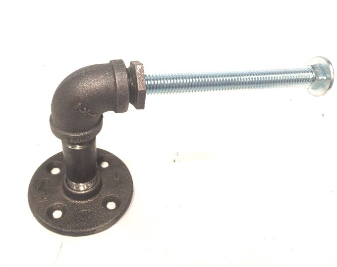"Industrial 1/2"" Black Pipe with Bolt Toilet Paper Holder"