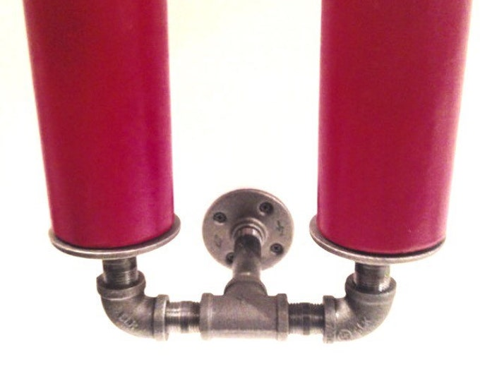 Industrial pipe 2 candle holder scone