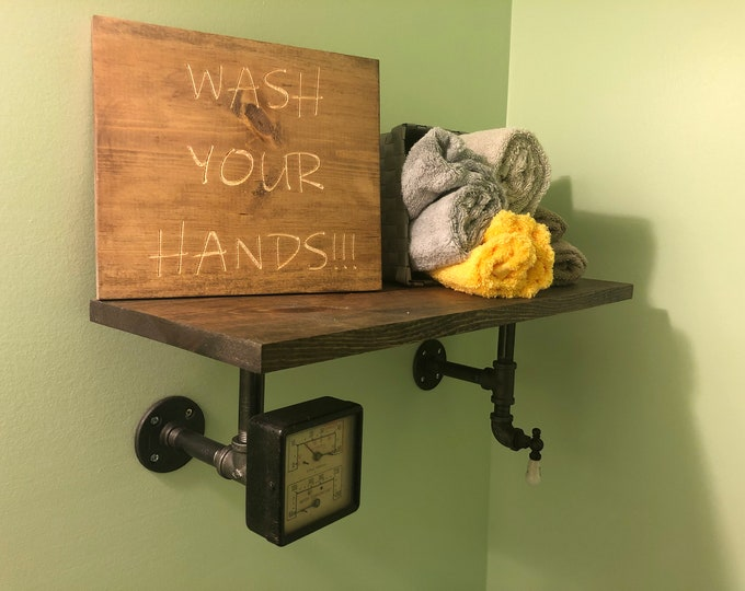 WASH YOUR HANDS  Sign (Carved)(Pick your own stain)