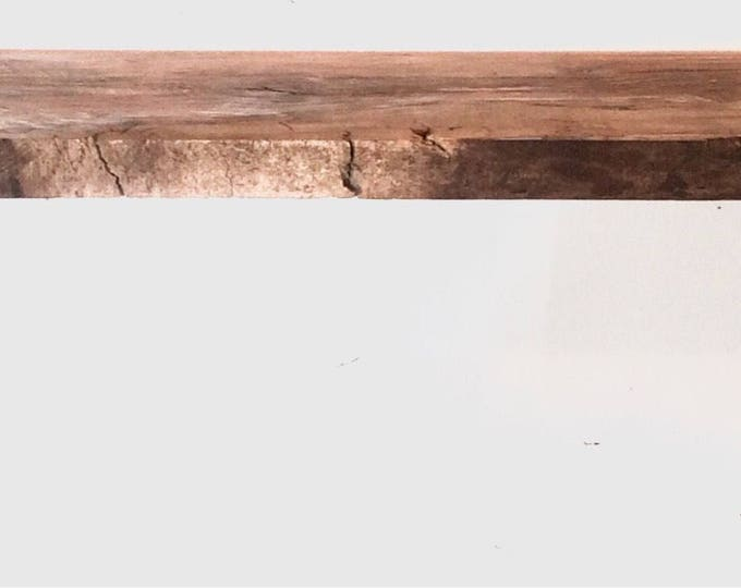 Barn Wood Floating Shelf, Industrial Kitchen Shelf, Rustic Wall Storage and Organization, Farmhouse (Buy Wood Only or with Brackets)