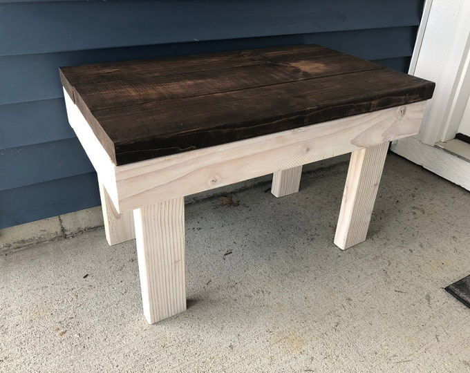 Farmhouse Rustic Bench, Porch bench, Wooden Bench (Pick your own stain)