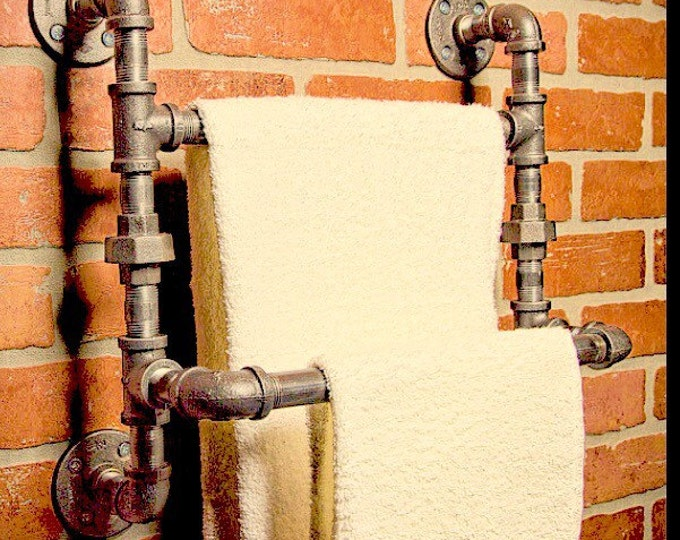 Industrial Urban Double Towel Rack