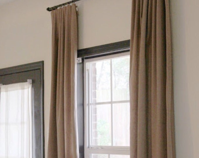 "Industrial curtain rod (Curtain 26""-58"")(Depth 3"" or 4"")"