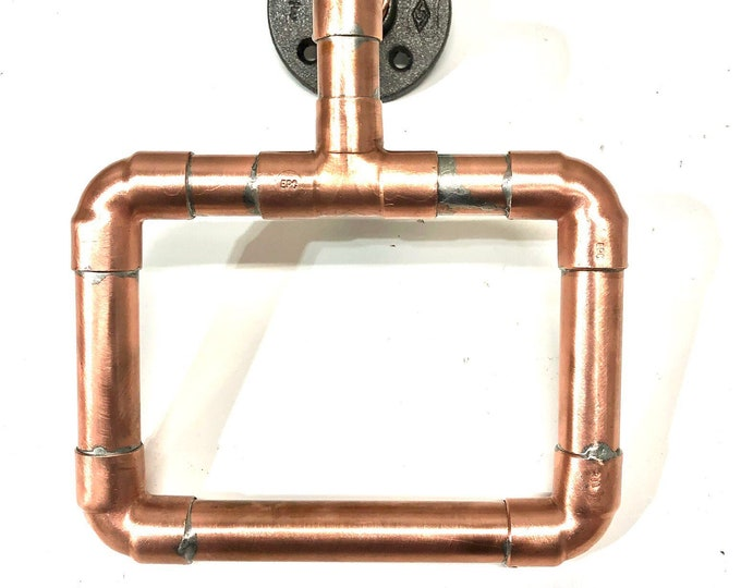"1/2"" or 3/4"" Copper pipe towel holder"