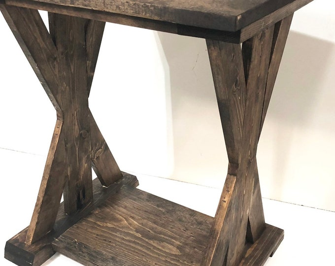 Farmhouse End Table (PICK YOUR STAIN)