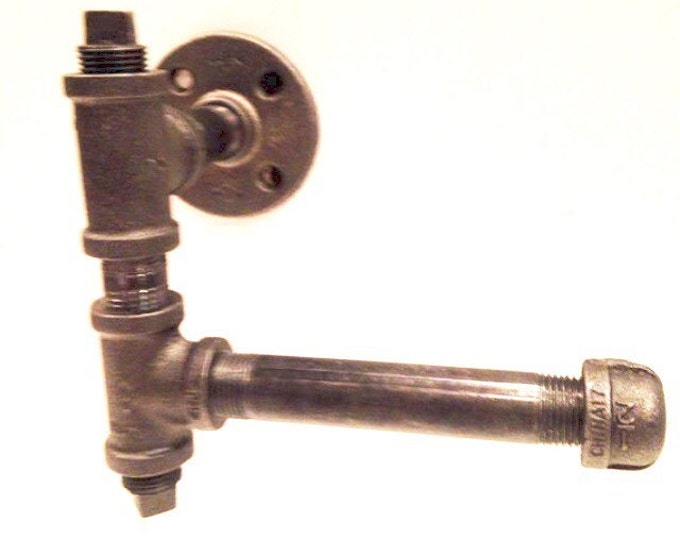 """Industrial 1/2"""" or 3/4"""" Pipe Toilet Paper Holder"""