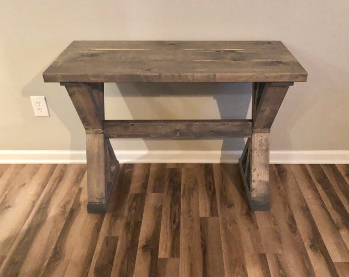 "16.5"" Depth Farmhouse Rustic Entryway Table, Console Table, Sofa Table (Pick your own stain & size)"