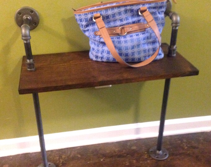 Industrial Rustic Urban Iron Pipe End table (pick your own stain)