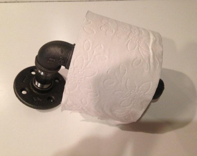 """Industrial 1/2"""" or 3/4"""" black pipe Toilet Paper"""