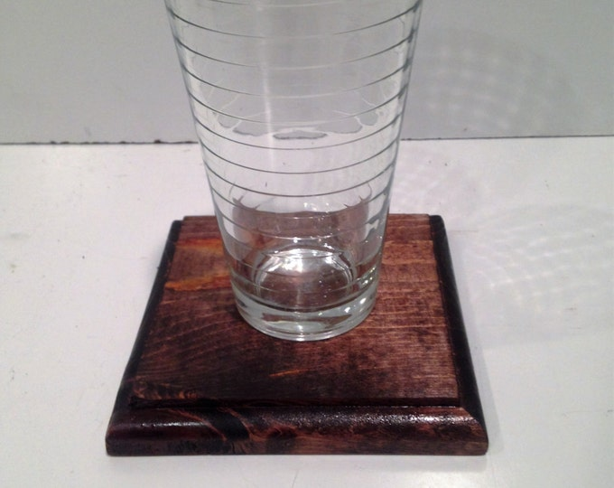 Jumbo Wood Coaster (Pick your Own Stain & Routed Edge)