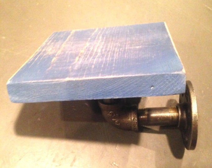 """Mini Royal Blue Shelf made with 1/2"""" Industrial pipe"""