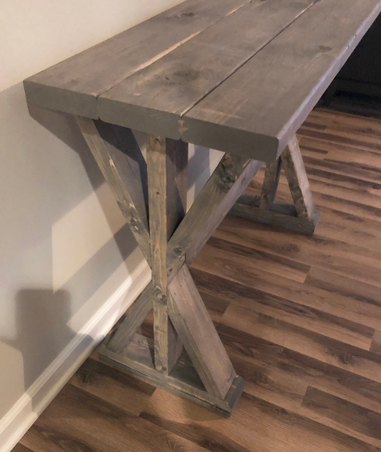 16 5 Depth Farmhouse Rustic Entryway Table Console Table Sofa Table Pick Your Own Stain Size