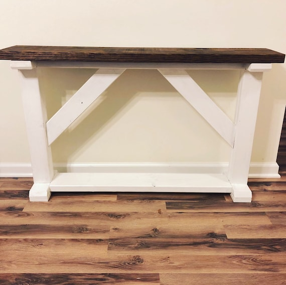 Farmhouse Rustic Entryway Table Console Table Sofa Table Etsy