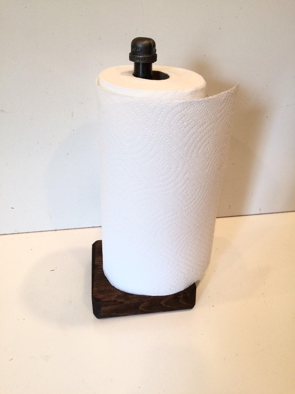 Industrial Rustic Espresso Urban Pipe Paper Towel Holder