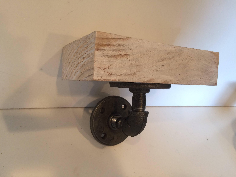Enjoyable White Washed Barn Wood Floating Shelf Industrial Kitchen Download Free Architecture Designs Grimeyleaguecom