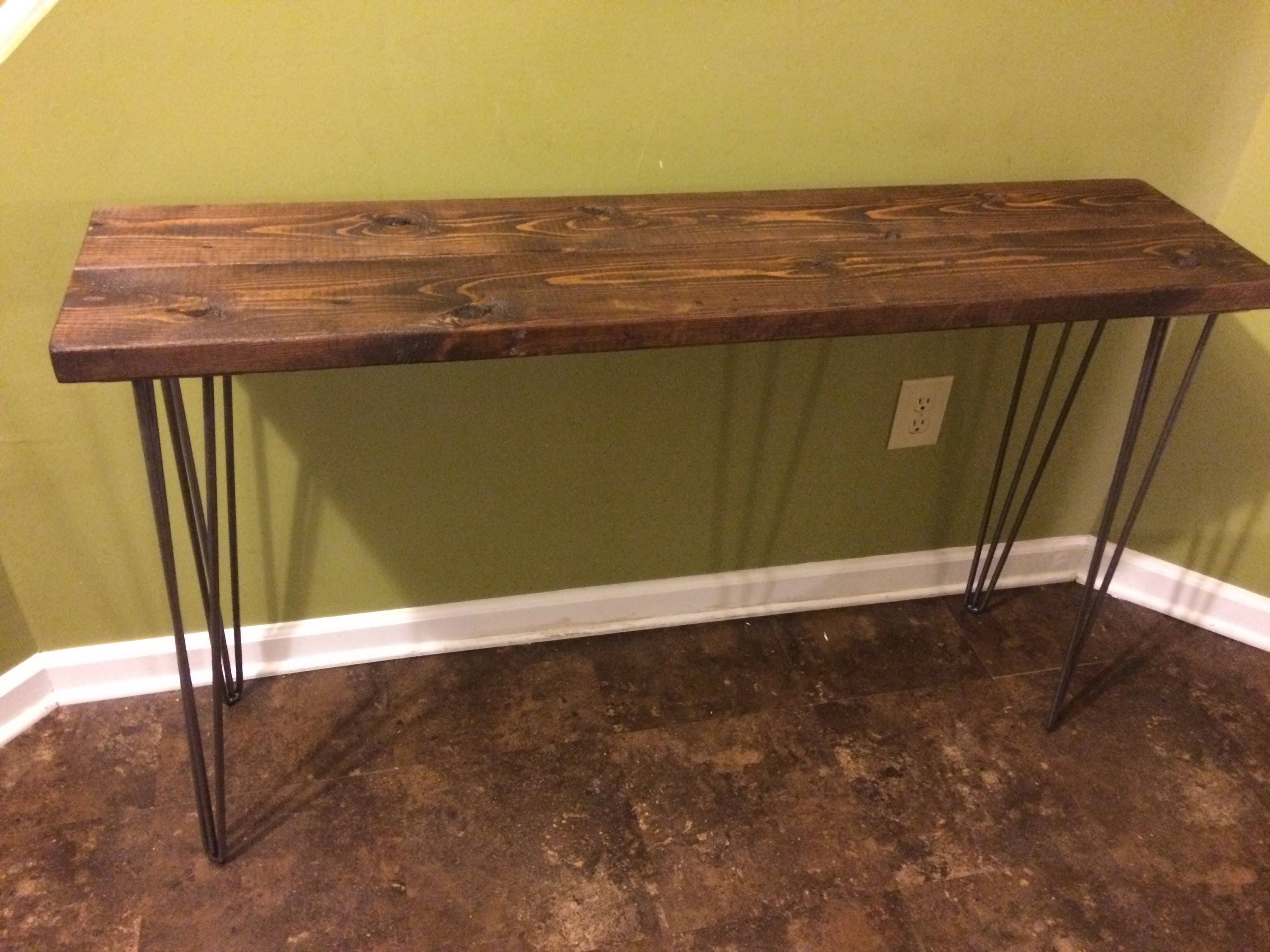 Modern Rustic Entryway Table Console Table Sofa Table