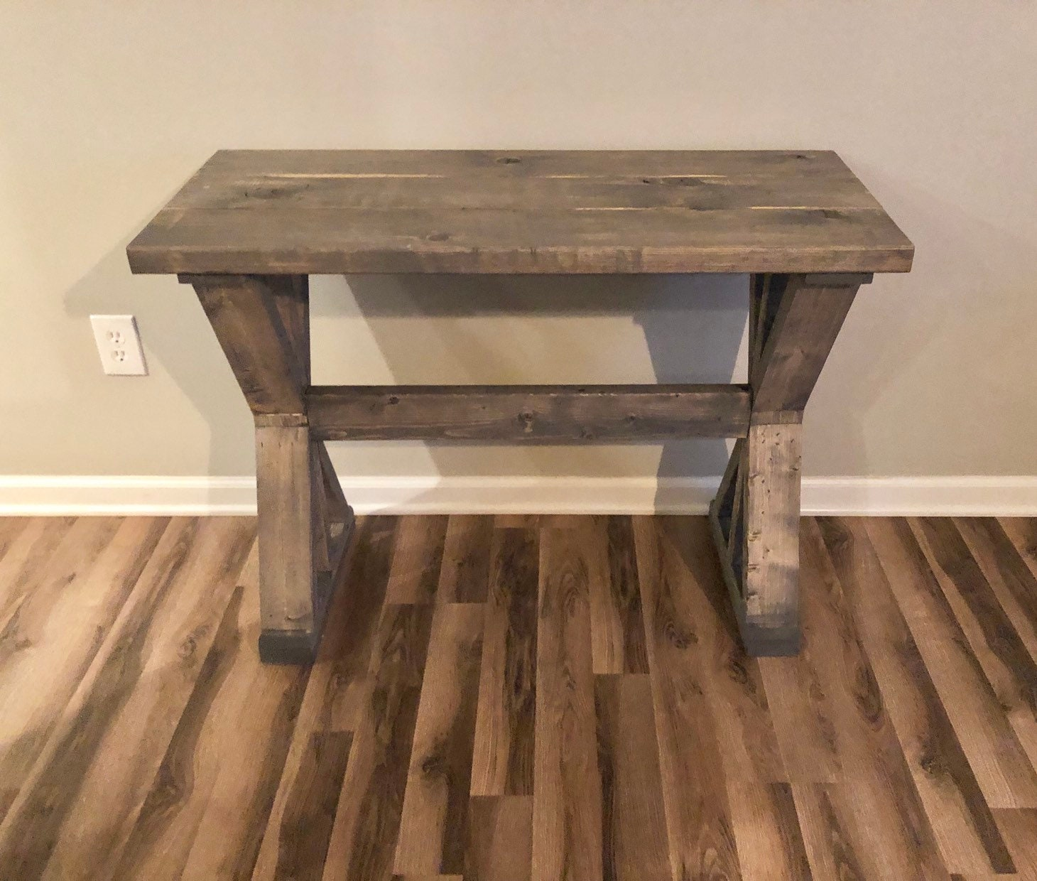 40 Farmhouse Console Table: 16.5 Depth Farmhouse Rustic Entryway Table, Console Table