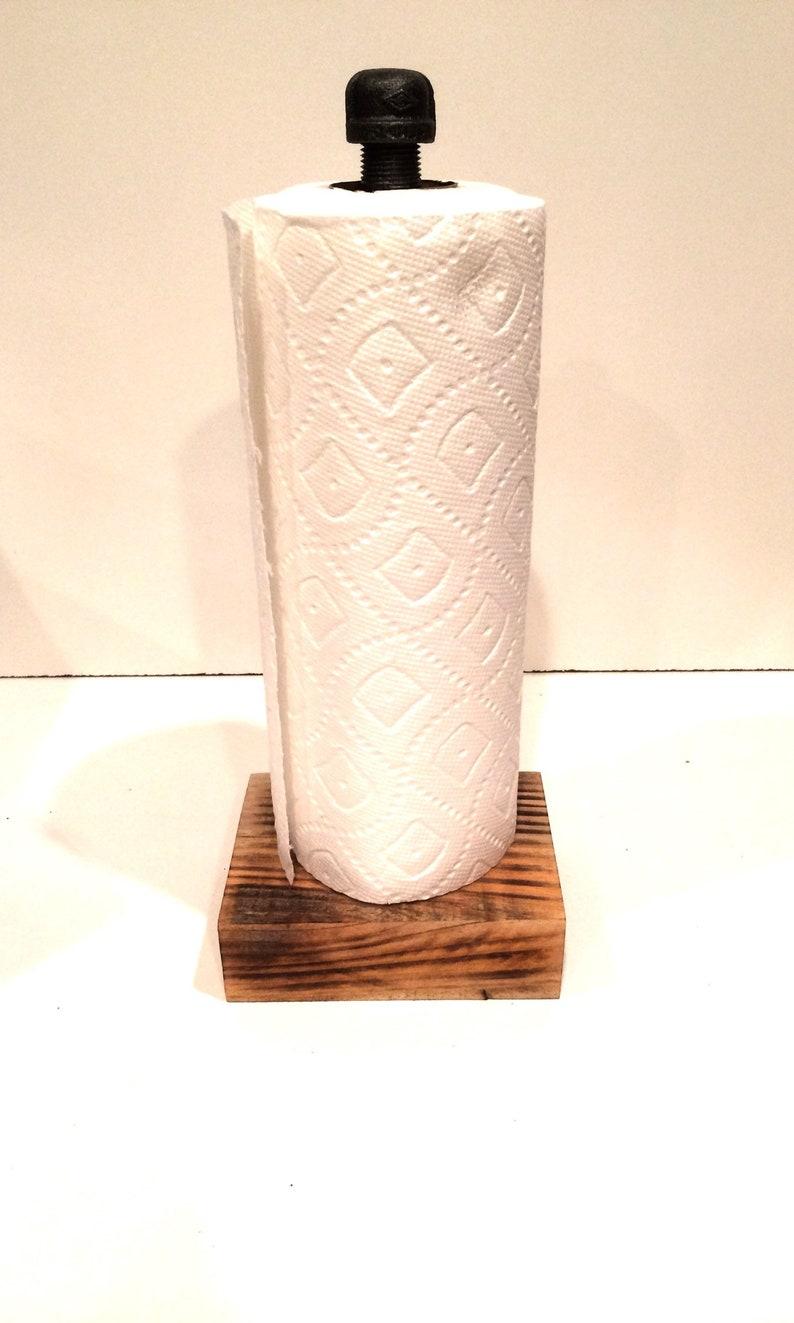 Barnwood Industrial Rustic Urban Pipe Paper Towel Holder
