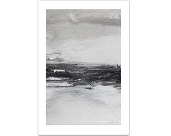 abstract watercolor painting art painting one of a kind black white painting abstract landscape painting christmas gift for her