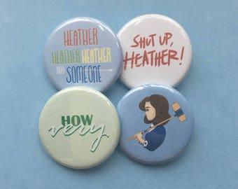 Heathers button set