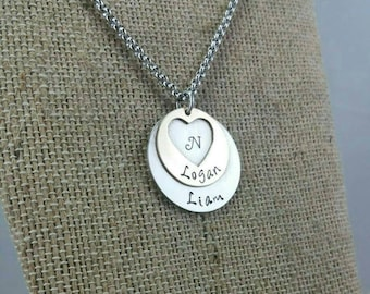 Mother's Necklace, Kids Name Necklace, Name Necklace, Mom Jewelry, Mothers Jewelry,  New Mom Jewelry, Personalized Jewelry, Custom Jewelry