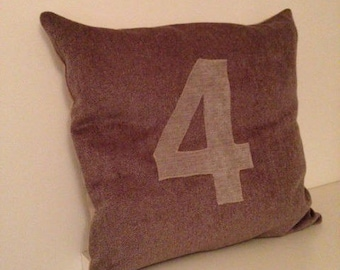 beige and taupe pillow cover in Velvet