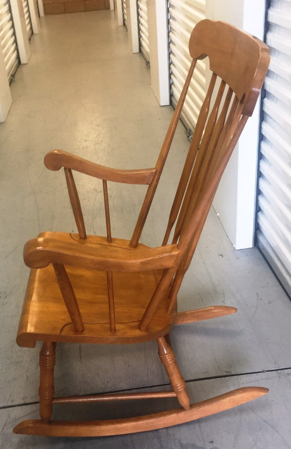 Phenomenal Vintage Maple Rocker Made In Yugoslavia Has An Arrow Back With Plank Bottom Seat And Turned Legs Please Note Shipping Instructions Ocoug Best Dining Table And Chair Ideas Images Ocougorg