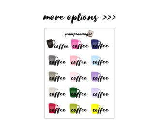 Functional - Coffee Date - planner stickers