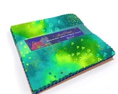 Laurel Burch Basics Along the Reef Charm Pack with Metallic Accents 42 5 quot squares SQ0215