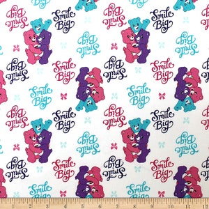 Camelot Fabrics Care Bears Sparkle /& Shine Pretty Bow in Fabric White Camelot 100/% Cotton fabric by the yard CA918