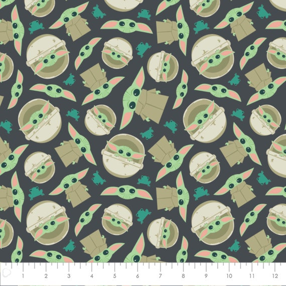 Star Wars MANDALORIAN Baby Yoda Print 100/% cotton fabric material for Crafts clothing and Home Decor Licensed Quilts