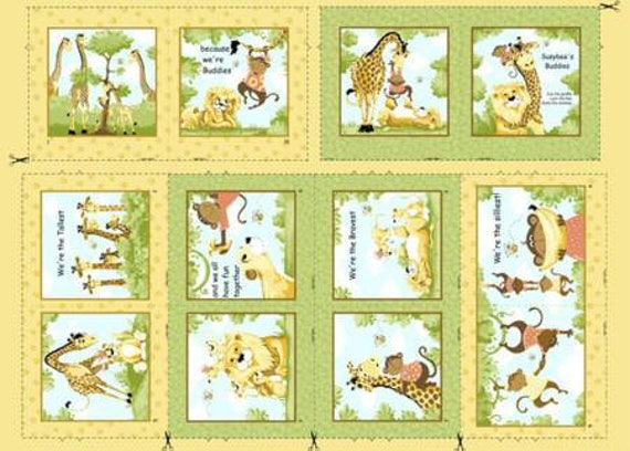 Susybee Buddies Storybook Panel Quilt Panel 36 From Etsy