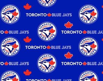 MLB - Toronto Blue Jays - woven cotton licensed major league baseball print maple leaf blue