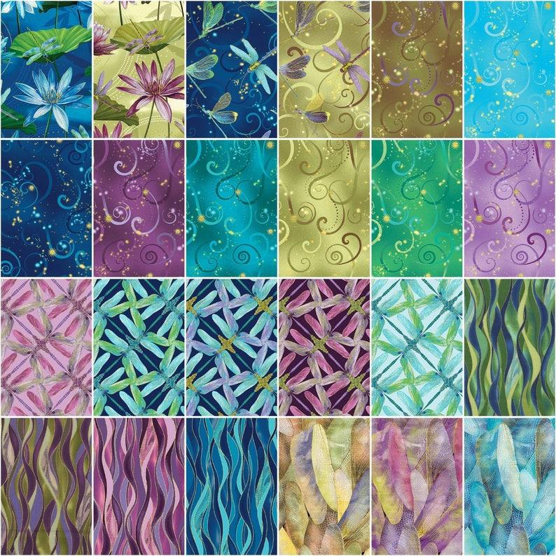 Kanvas Studio Natural Beauty Pinwheel 40 2.5-inch Strips Jelly Roll Benartex