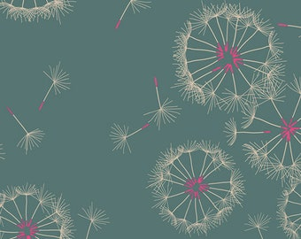Art Gallery Rayon - Tiny Dancer Bachorelette by Sharon Holland R-502 fabric yardage dandelion fluff floral green agf