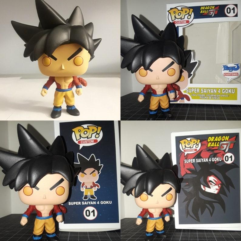 bb7fa33b6b400 Custom Super Saiyan 4 Goku Funko pop | Etsy