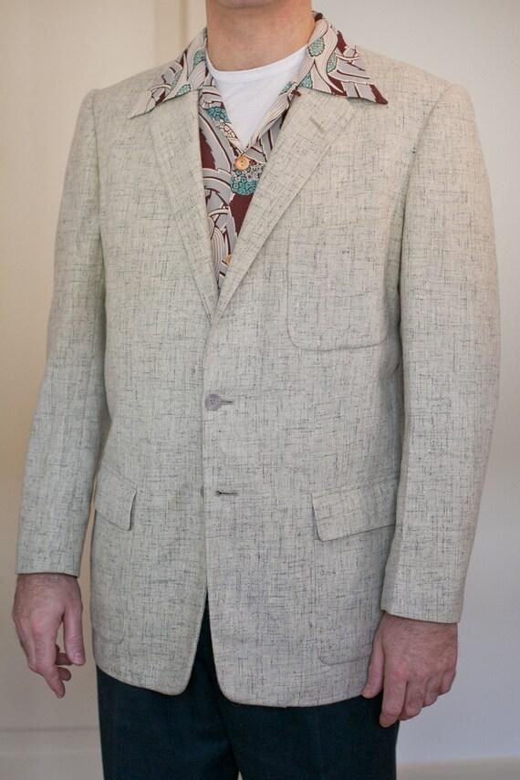 Vintage 50s flecked box men sport jacket.